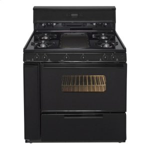 Premier36 in. Freestanding Gas Range with 5th Burner and Griddle Package in Black
