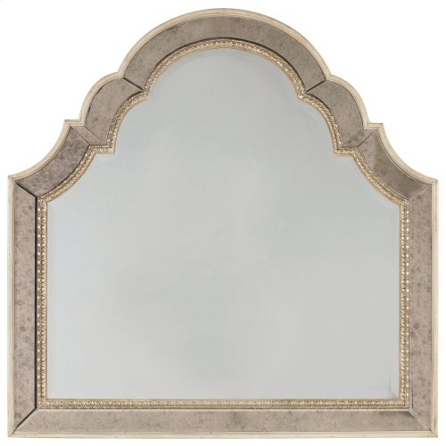 Bedroom Sanctuary Shaped Landscape Mirror-Pearl Essence
