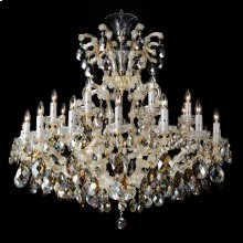 La Scala 25 Light Chandelier Cognac