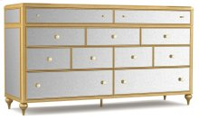 Bedroom Bewitch Nine-Drawer Mirrored Dresser