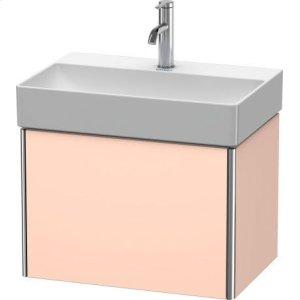 Vanity Unit Wall-mounted Compact, Apricot Pearl Satin Matt Lacquer