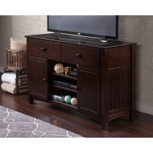 Nantucket 50 inch 2 Drawer Entertainment Console 30x50 with Adjustable Shelves in Espresso