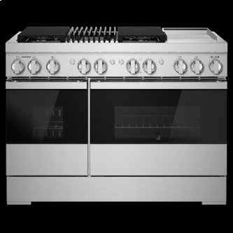 """NOIR™ 48"""" Dual-Fuel Professional Range with Chrome-Infused Griddle and Gas Grill"""
