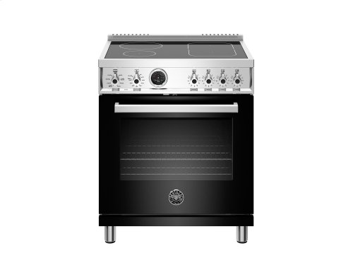 30 inch Induction Range, 4 Heating Zones, Electric Self-Clean Oven Black
