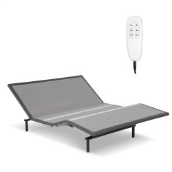 Pro-Motion 2.0 Low-Profile Adjustable Bed Base with Simultaneous Movement and MicroHook Technology, Charcoal Gray Finish, Queen