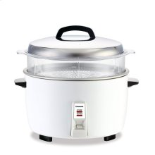 23 Cup Commercial Automatic Rice Cooker with Non-Stick Pan & Steaming Basket - SR-GA421SH - White