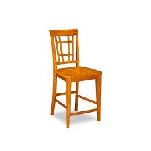 Montego Bay Pub Chairs Set of 2 with Wood Seat in Caramel Latte