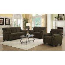 Clemintine Brown Three-piece Living Room Set