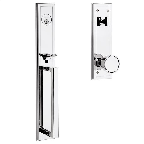 Polished Chrome Hollywood Hills Full Escutcheon Handleset