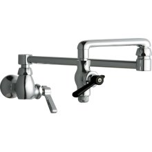 Single-hole wall-mounted pot and kettle filler