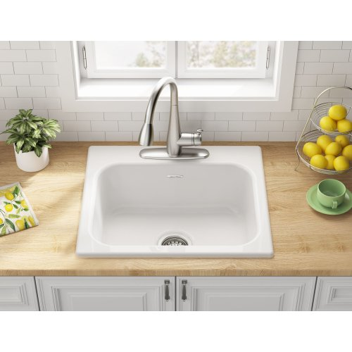 Quince 25x22-inch Single Bowl Kitchen Sink  American Standard - Brilliant White