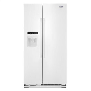 36-Inch Wide Side-by-Side Refrigerator with Exterior Ice and Water Dispenser - 25 Cu. Ft. - WHITE