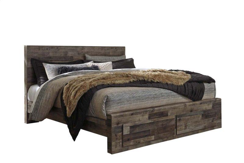 67153fd3acdb1b B200B14 in by Ashley Furniture in San Jose, CA - Derekson - Multi Gray 4  Piece Bed Set (King)