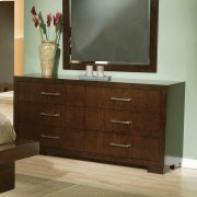 Jessica Cappuccino Six-drawer Dresser Product Image