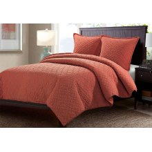 3pc King Duvet Set Paprika