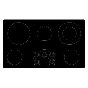 Whirlpool36 In. Electric Cooktop With Warm Zone Element