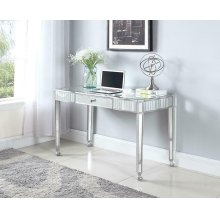 Contemporary Silver Mirrored Writing Desk