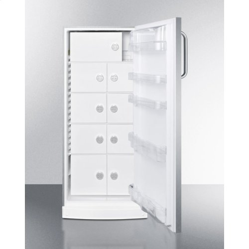 10.1 CU.FT. Medical All-refrigerator With Nine Interior Locking Compartments and Stainless Steel Door