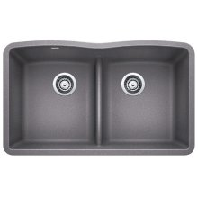 Blanco Diamond Equal Double Bowl With Low-divide - Metallic Gray