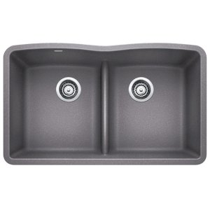 Blanco Diamond Equal Double Bowl With Low-divide - Metallic Gray