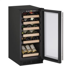 "U-Line1000 Series 15"" Wine Captain(r) Model With Stainless Frame Finish and Field Reversible Door Swing (115 Volts / 60 Hz)"