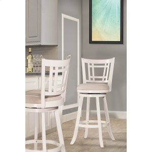 Hillsdale FurnitureFairfox Swivel Bar Stool - White