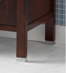 "3/4"" Metal Feet for the Juno or Minerva Bathroom Vanity Collection in Brushed Nickel"