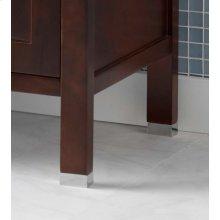 "3/4"" Metal Feet for the Juno or Minerva Bathroom Vanity Collection in Brushed Nickel"