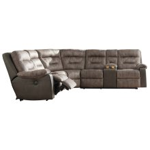 Hacklesbury - Brownstone 4 Piece Sectional