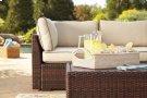 Loughran - Beige/Brown 1 Piece Patio Set Product Image