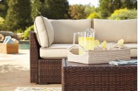 Loughran - Beige/Brown 1 Piece Patio Set Product Image