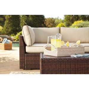 AshleySIGNATURE DESIGN BY ASHLEYLoughran - Beige/Brown 1 Piece Patio Set