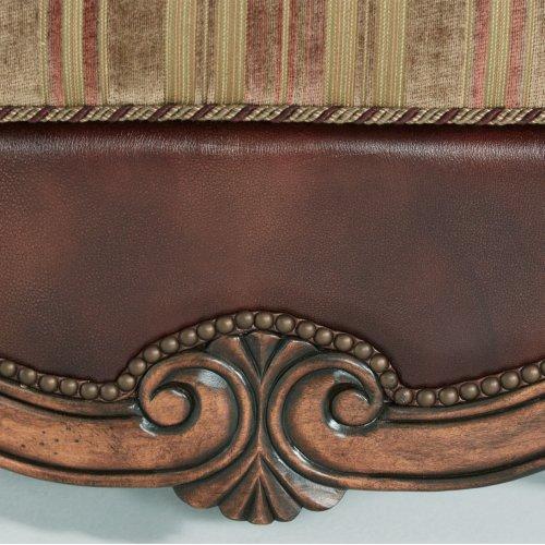 Leather/fabric Ottoman