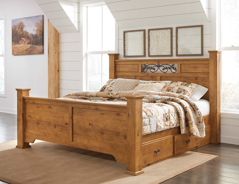 B219b48 Ashley Furniture Bittersweet Light Brown 5 Piece Bed Set