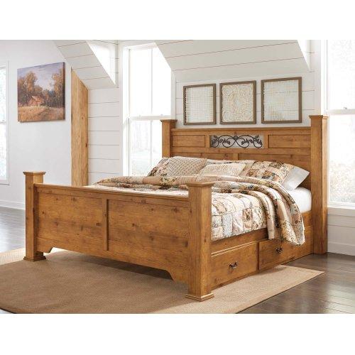 Bittersweet - Light Brown 4 Piece Bed Set (King)