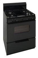 30 in. Freestanding Sealed Burner Gas Range in Black Product Image