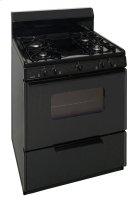 30 in. Freestanding Sealed Burner Gas Range in Black Product Image