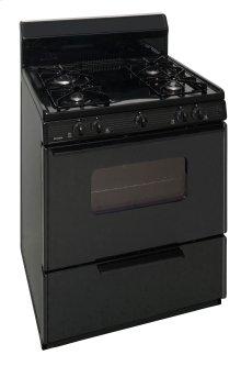30 in. Freestanding Sealed Burner Gas Range in Black