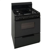 30 in. Freestanding Sealed Burner Gas Range in Black