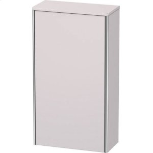 Semi-tall Cabinet, White Lilac Satin Matt Lacquer
