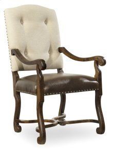 Dining Room Treviso Camelback Arm Chair