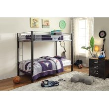 SILVER/BROWN T/T BUNKBED