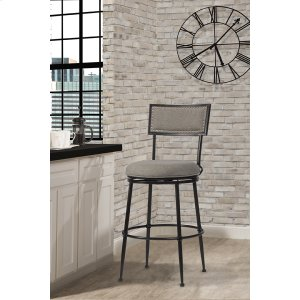 Hillsdale FurnitureThielmann Commercial Swivel Counter Stool - Granite/dark Charcoal