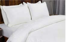 Francis Jacquard White 3Pc QN Set