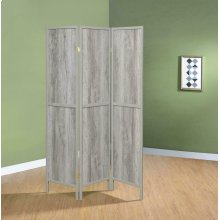 Rustic Grey Driftwood Three-panel Screen