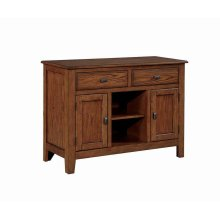 Nelms Casual Deep Brown Server