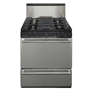 Premier30 in. Freestanding Sealed Burner Gas Range in Stainless Steel
