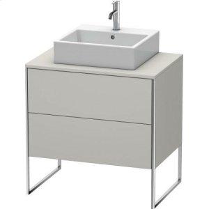 Vanity Unit For Console Floorstanding, Concrete Gray Matt Decor