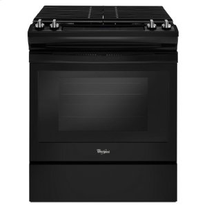 5.0 cu. ft. Front Control Gas Range with Cast-Iron Grates - BLACK
