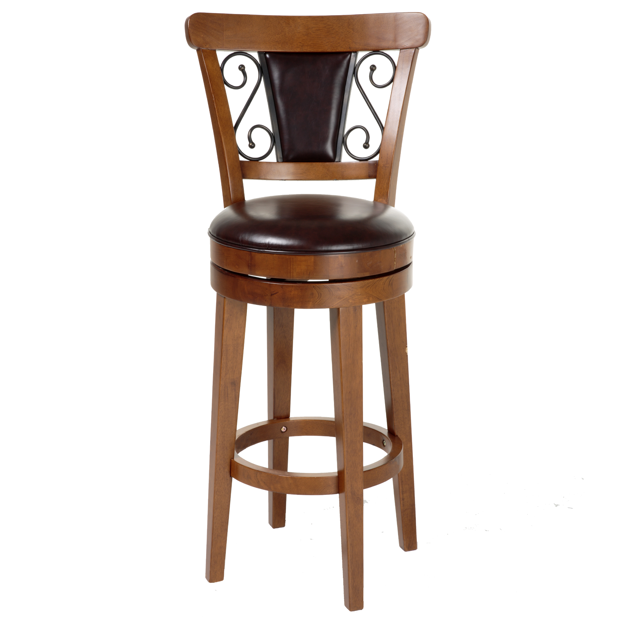 C1x070fashion Bed Group Trenton Swivel Seat Bar Stool With Nutmeg